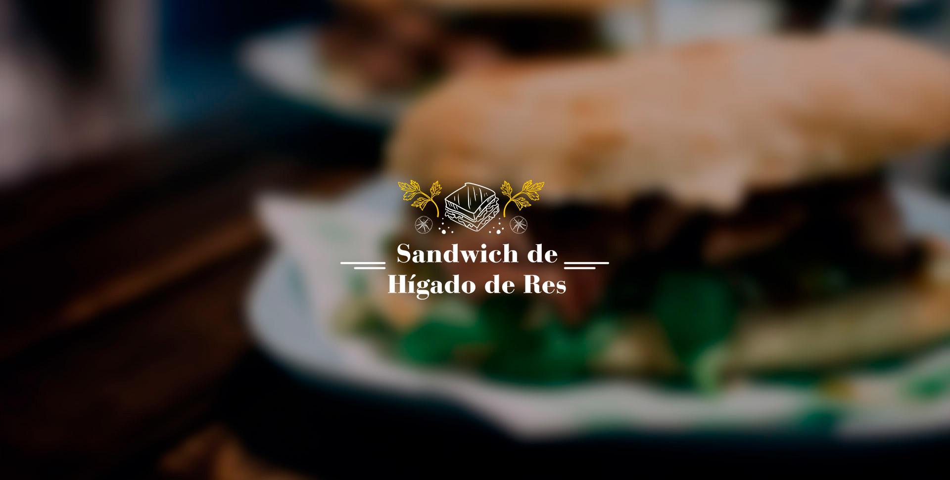 Sandwich de hígado de res
